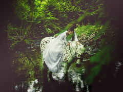 Is This The Way? (i-r-paulus) Tags: wood horse water woodland river fairy fantasy faery mysterious mystical themed magical vignette fae legacylens cosmicar tvlens cmount cmountlens cosmicartelevisionlens