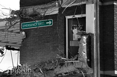 Emergency Exit (DramaticPigeonPhotography) Tags: demolition carpark multistory stafford emergencyexit