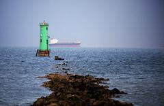 Green Lighthouse (ken Dowdall) Tags: ireland dublin lighthouse water ship irishsea dublinbay