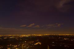 Vista da Montevecchia (Marta Panzeri) Tags: italy night clouds landscape lights italia nuvole valley po luci plain notte paesaggio pianura partlycloudy padan padana