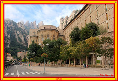 Basilica at Montserrat (vicbrasil) Tags: barcelona madrid people men children spain women bilbao zaragoza santiagodecompostela montserrat oviedo sansebastian pamplona santillanadelmar