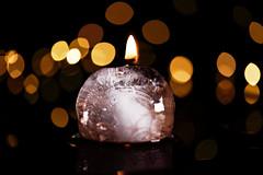 I'm melting! (johnsinclair8888) Tags: hot cold macro reflection ice wet dark fire nikon melting moody bokeh sigma hotcold macromondays