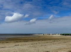 Sunday on the North Sea coast (BrigitteE1) Tags: blue sky beach clouds strand geotagged himmel wolken lowtide blau niedrigwasser sundayonthenorthseacoast