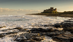 The most noble of castles. (lawrencecornell25) Tags: england castle landscape coast northumberland bamburgh waterscape bamburghcastle northeastengland