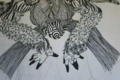 folding time (Danny W. Mansmith) Tags: art hope dress drawing fingers workinprogress improvised sharpies larger dannymansmith