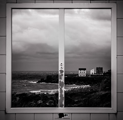 The window on history (emanuelepersiani) Tags: city travel sea blackandwhite italy cliff cloud white holiday seascape black geometric window clouds europe italia cliffs finestra geometrical rectangle calabria architettura crotone rettangoli