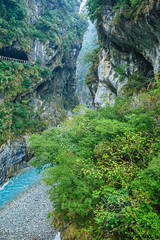 Taiwan-121116-415 (Kelly Cheng) Tags: travel color colour green tourism nature water vertical river landscape daylight colorful asia day outdoor taiwan nobody nopeople canyon colourful tarokonationalpark tarokogorge  traveldestinations  northeastasia