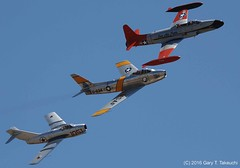 Planes of Fame Air Show 2016 - DSC_8786c (g_takeuchi) Tags: california history plane airplane flying fighter aircraft airplanes flight jet aeroplane historic formation airshow sabre soviet planes warbirds trainer warbird aeroplanes mig silverstar chino cno canadair f86 flyable planesoffame mig15 2016 pacemaker northamerican ct133 mikoyangurevich airworthy 21377 f86f mig15bis 91051 525012 n186am silverstar3 nx377jp nx87cn