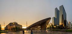 P6230239-Pano-Edit (Baffalowz) Tags: sunset summer rotterdam europe olympus centraalstation omd em1 rotterdamcentraal 2016 zuikodigital1260mm