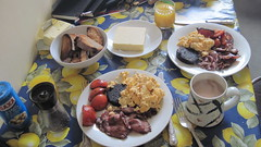 Proper English Breakfast (Alpen Schatz - Mary Dawn DeBriae) Tags: bangers runcorn blackpudding britishbreakfast timothyreese