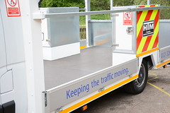 Ultra Low Traffic Management Vehicle - 2013 (madwon) Tags: new signs work design bed highway traffic low platform management works vehicle ltd ultra height cones vauxhall tmv movano ltmv ultmv