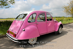 Rosie in the country-6 (magicalnights) Tags: pink wedding car derbyshire 2cv chic weddingcar shabbychicwedding sexyweddingcar 2cvweddingcar