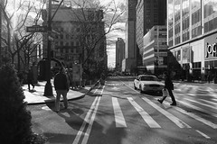 Dramatic morning on West 33rd Street. (gomosto) Tags: street york bw newyork fuji streetphotography x metropolis e1