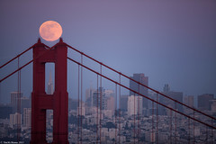 Full Moon over Downtown (Tim McManus) Tags: road bridge moon tower golden gate pyramid north moonrise transamerica conzelman