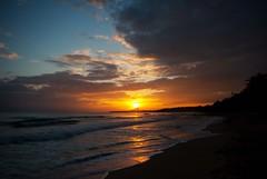 sunrise (jennifermmupton) Tags: ocean cloud costa sun beach water sunrise puerto waves rica tropical rise viejo