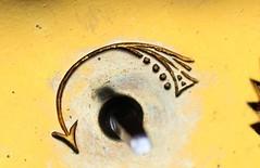 Poinçon des Etablissements Couaillet Frères (musee de l'horlogerie) Tags: clock museum de carriage musée armand horlogerie saintnicolasdaliermont lhorlogerie couaillet pendulerie museehorlogerie