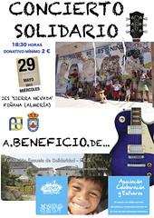 Cartel Concierto Solidario IES 'Sierra Nevada' (ablaeninternet) Tags: rural living blog lab almería redes rurales abla abulenses