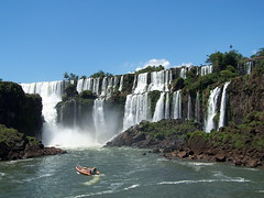 iguazu falls (drjerryfowler) Tags: park travel brazil vacation cliff fall tourism nature wet water ecology argentina beautiful brasil america river wonder landscape boat waterfall rainforest view south national jungle iguazu biggest humidity