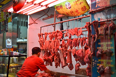(flo chan) Tags: street travel food hongkong raw market meat butcher grocieries