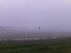 Drainage mill in the mist, Womack Water, Norfolk (mira66) Tags: mist mill water windmill norfolk dyke womack eastanglia drainage broads ludham