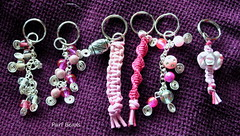Zipper Aids (JBOT | Adaptive Disability Lifestyle) Tags: pink silver beads key hand aids ring zipper swirl zip function disability purl purlbeads