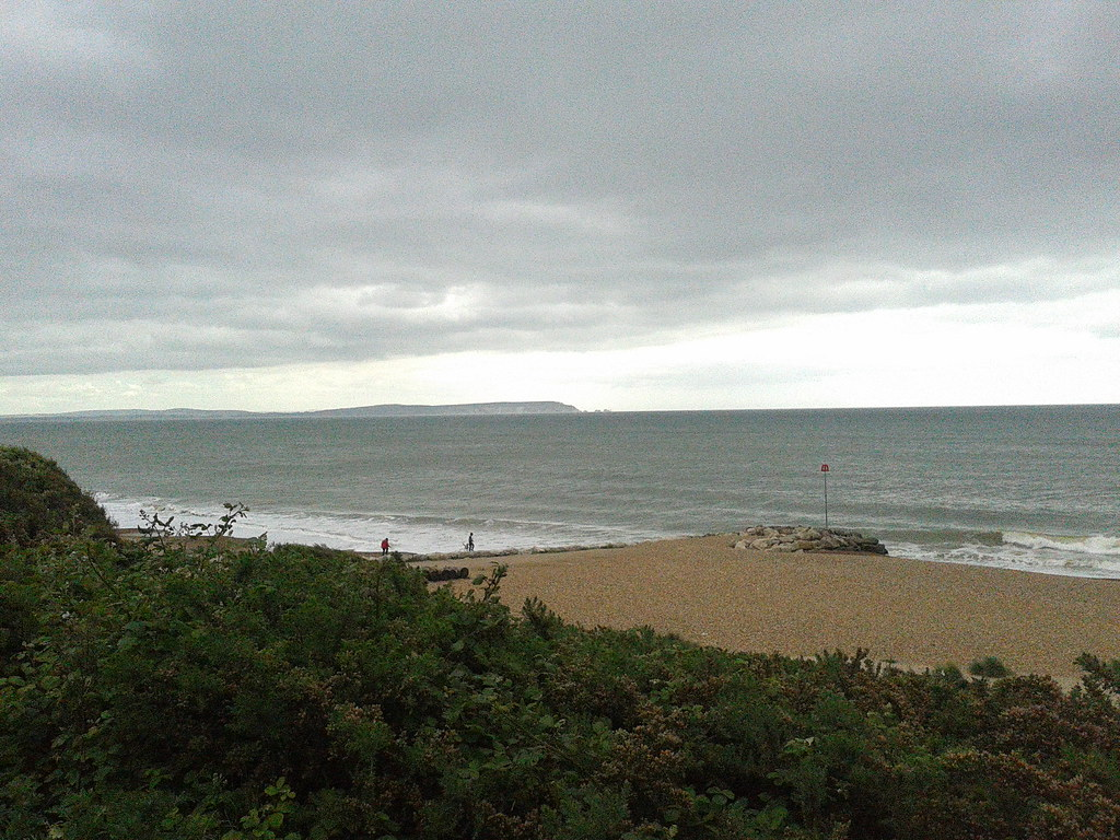 Highcliffe Castle Beach - Zig-Zag path to beach - Isle of Wight - The Needles