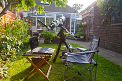 Lunt Herschel wedge (chris_swatton) Tags: england garden mono hampshire apo telescope herschel wedge g8 fareham tmb f7 dmk losmandy gm8 130ss 21au618as