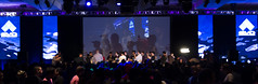 silhouettes on the main stage (jovialkaleidoscopes) Tags: fgc ssbm ssf4 sfxt umvc3 evo2013
