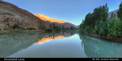 Sunrise at Phandar Lake, GB (i.rashid007) Tags: pakistan panorama sunrise northernareas gilgit phandarlake ghizar phandar imranrashid lakesofpakistan gilgitbaltistan ghizervalley nodalninjann5