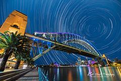 Vivid Sydney 2013 Star Trails (Kiall Frost) Tags: city bridge sky night stars harbour sydney vivid australia operahouse sydneyharbour startrails 2013 kiallfrost