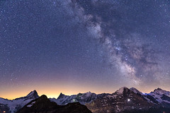 Milky Way over Eiger, Mnch & Jungfrau (PhiiiiiiiL) Tags: sky panorama mountain mountains alps beauty berg sex night way landscape schweiz switzerland nikon long exposure shot suisse hiking swiss himmel hike berge clear grindelwald alpen landschaft milky eiger wandern berner bernese jungfrau wanderung mnch langzeitbelichtung oberland faulhorn milchstrasse visipix mygearandmesilver d800e
