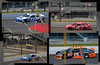 cars... (IndyEnigma) Tags: people car fence track indiana nascar fans quadtych indianapolismotorspeedway martintruexjr markmartin brickyard400 clintbowyer juancarlosmontoya