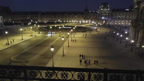 Cour Napoleon after dark, Musée du Louvre, Paris