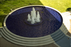 Feelin' Blue #3 - The Fountain (Jill Clardy) Tags: blue building water fountain office floor 4th courtyard day225 ttw day225365 3652013 365the2013edition 13aug13 4b4a0726