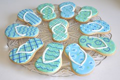 Flip flop cookies for end of summer fun!