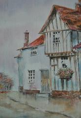 Rainy day cottage (amanda.parker377) Tags: rainyday cottage windowbox watercolourpainting