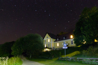 Big Dipper over old forester's house