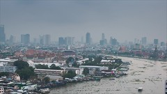 Bangkok (Mixrinho Suphamongkol) Tags: travel light sky cloud motion building architecture river asian thailand outdoors temple timelapse cityscape view time bangkok capital palace reflect thai lanscape mixrinho