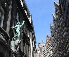 (shaggyshoo) Tags: street travel statue architecture digital design europe pattern rooftops belgium belgique belgi antwerp antwerpen shaggyshoo