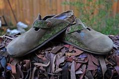 Yes, the Puppy Got My Shoe (BKHagar *Kim*) Tags: leaves shoe design leaf vines shoes designs birkenstock zentangle bkhagar