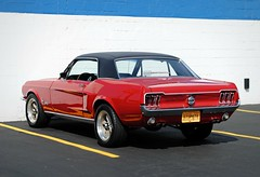 1968 Ford Mustang (Cragin Spring) Tags: red ford car illinois midwest il mustang fordmustang palatine palatineil palatineillinois