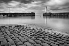 Newhaven Harbour (Barnaby Nutt) Tags: 2 lighthouse white black clouds silver ramp long exposure harbour 10 stop filter pro launch cobbles density neutral efex
