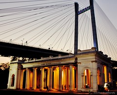 Unforgettable Evenings - Princep Ghat (sandy_photo) Tags: old city india west heritage architecture james cityscape great colonial rivers sir incredible kolkata bengal calcutta ganga ganges ghat kolkatta riverscape prinsep princep