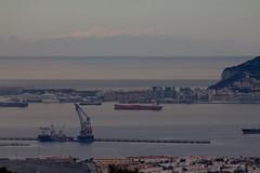 Sierra Nevada desde el Campo de Gibraltar. (Jos Rambaud) Tags: mountains snowy snowcapped nubes sierranevada gibraltar cdiz algeciras montaas lalinea estrechodegibraltar campodegibraltar bahiadealgeciras vision:sunset=0738 vision:clouds=0798 vision:outdoor=0978 vision:car=0802 vision:ocean=0645 vision:sky=0956