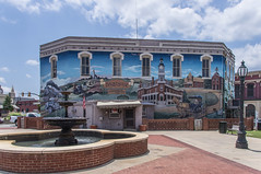 Barnesville Mural (jwcjr) Tags: fountain mural streetlamp lamppost barnesvillega barnesvillegeorgia smalltownga barnesvillemural