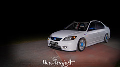Honda Civic (Neu-Project) Tags: white honda turkey matt power slow low fast modified civic rims tuning kt fastcar mugen samsun keskin hondata
