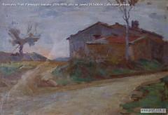 Romualdo Prati Paesaggio toscano (1916-1919) olio su tavola 24.5x36cm Collezione privata