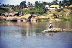 Hampi 74 (marcwiz2012) Tags: people india river asia scan southern local hampi localpeople