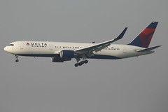 Delta Airlines Boeing 767-3P6ER (N152DL) (TFG Lau) Tags: dal delta boeing dl hkg 767 boeing767 b767 deltaairlines hkia b763 skyteam vhhh n152dl skyteamalliance b76e ahkgap expofootbridge