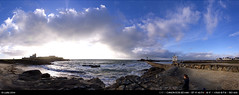 5/52 : Composite pano (Ludtz) Tags: sunset sea sky mer lighthouse beach rock clouds canon brittany waves bretagne breizh ciel 29 nuages vagues plage phare hdr rocher coucherdesoleil bzh finistère iso50 trévignon pennarbed 5dmkii canoneos5dmkii ludtz ef1740|4l